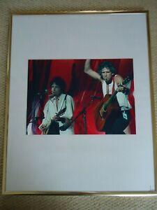KEITH-RICHARDS-BOB-DYLAN-LIVE-AID-PHOTO-1985-RARE-IMAGE-HUGE-12-INCH-COLLECTIBLE