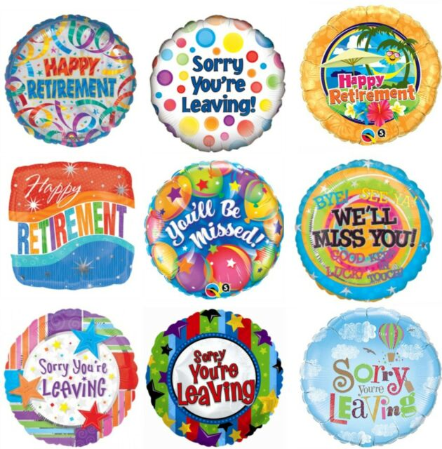 """Leaving Retirement Gift Decoration Sorry You/'re Leaving Dotty 18/"""" Foil Balloon"""
