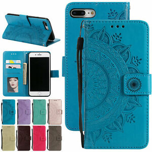 For-iPhone-5-6S-7-8-Plus-XR-XS-Magnetic-Leather-Case-Wallet-Card-Slot-Flip-Cover