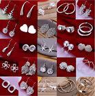 New 925 Sterling Silver SF Vintage Stud Clip Dangle Earrings Wholesale Price