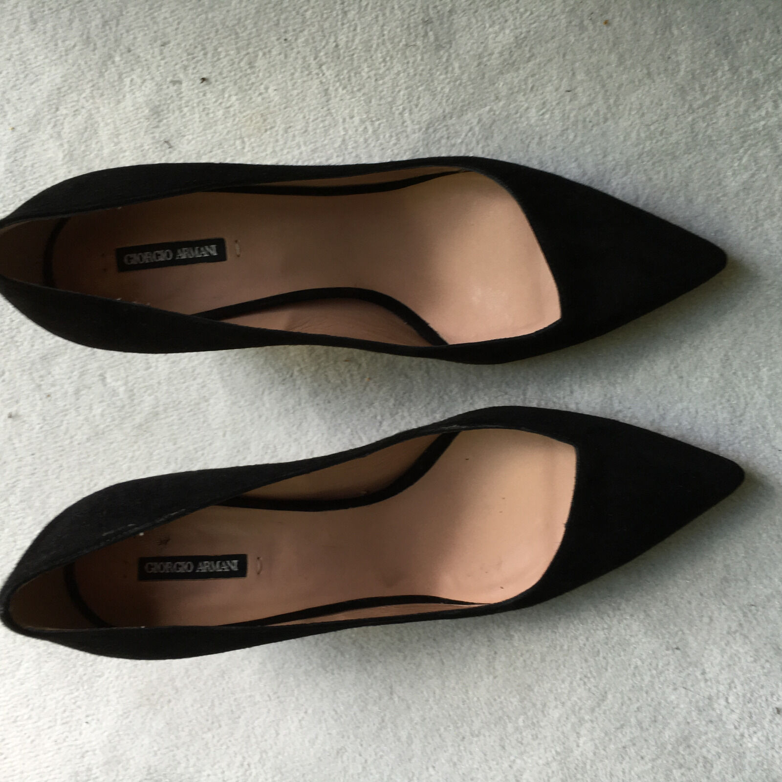 GiORGIO ARMANI - PUMPS  - feinstes Lammveloursleder,Gr. 37,NP 595,-