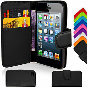Magnetic-Leather-Book-Wallet-Flip-Pouch-Case-Cover-For-Apple-iPhone-SE-5s