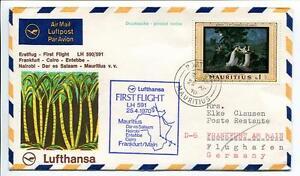Impartial Ffc 1970 Lufthansa Primo Volo Lh 591 - Francoforte Cairo Nairobi Mauritius ExtrêMement Efficace Pour Conserver La Chaleur