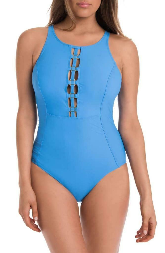 NWT Amoressa bluee Only Live Twice Sonder One Piece Swimsuit 12 tm06