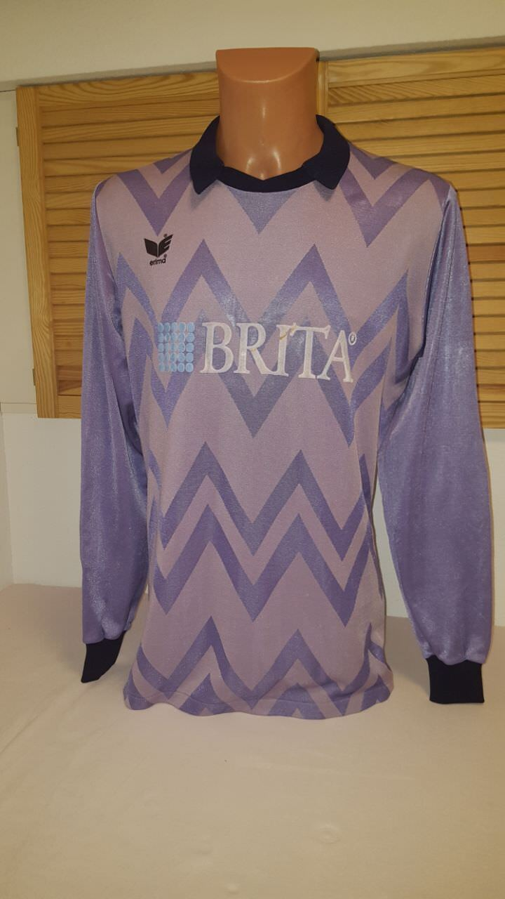 SV Wehen (Wiesbaden) 80er Matchworn Torwart Trikot L Erima Brita Brita Erima Jersey Shirt 662865