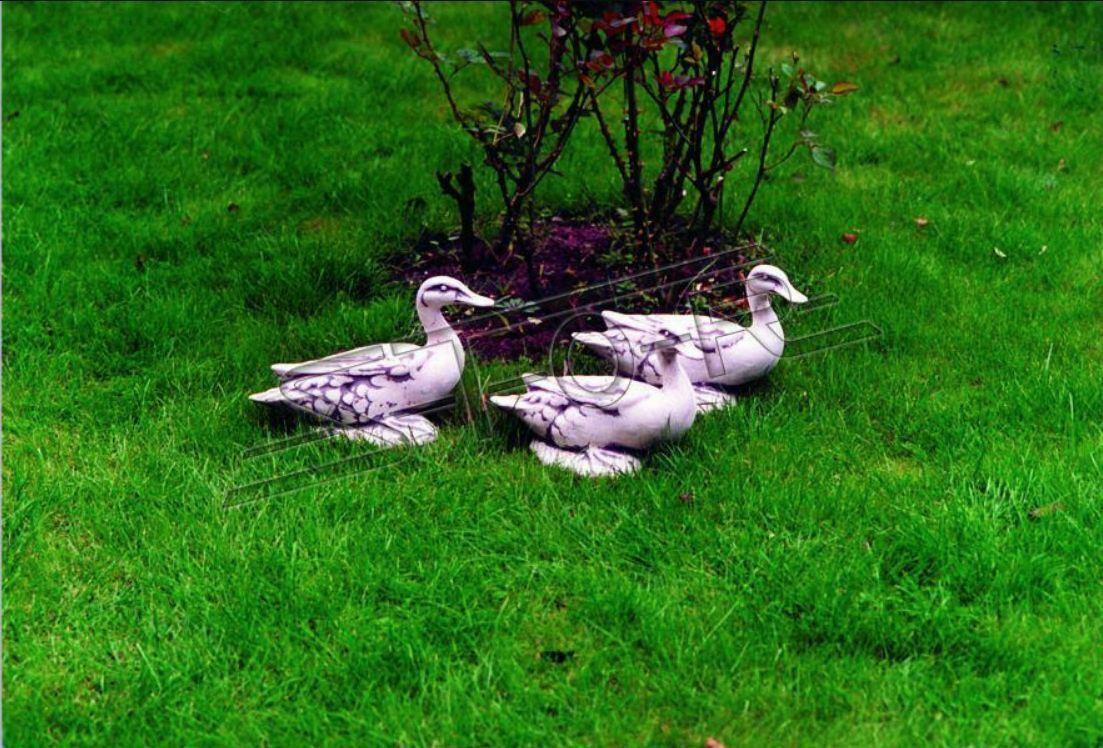 Decoración de Jardín Pato Terraza Piedra Figuras Estatua Escultura Pájaro 21cm