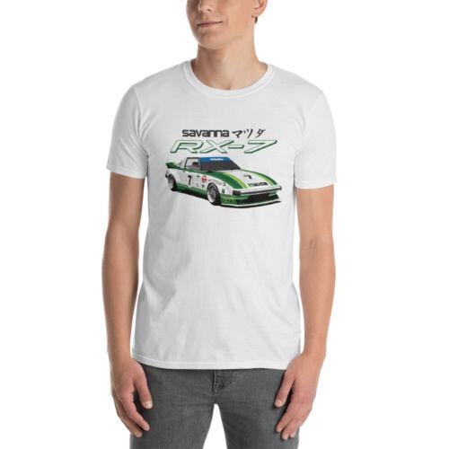 1979 Savanna Mazda RX-7 IMSA GTU Race Car T-Shirt