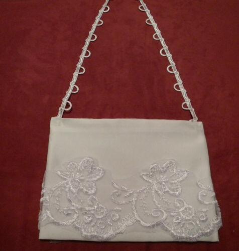 Brautkleid Hochzeit Brauttasche Spitze Braut Tasche creme oder weiß z
