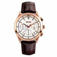 Luxury Men's Quartz Wrist Watch Stopwatch Waterproof Leather Sport Army Analog