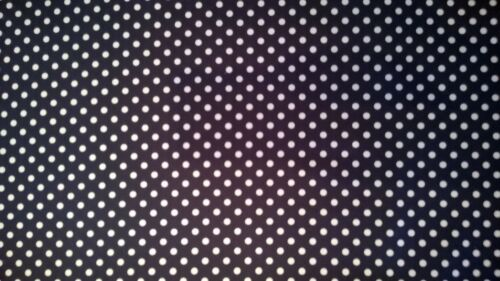 1 Metre Length Navy and White Spot Print Cotton Poplin 100/% cotton Fabric