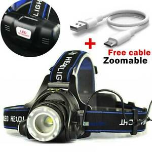 18650-Headlamp-Tactical-60000LM-T6-LED-Zoomable-Hiking-Torch-Headlight-amp-USB