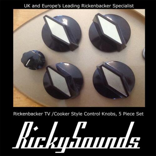 TV 5 Teil Set Hergestellt in Herd Stil Drehknöpfe für Rickenbacker Gitarre