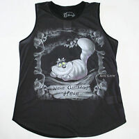 Disney Alice Through The Looking Glass Cheshire Cat Mad Here Smoke Tank Top M-l