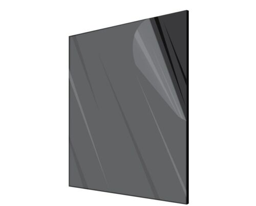 x 24 in. Black Acrylic Plexiglass Opaque Sheet 1//8 Inches Thick 24 in