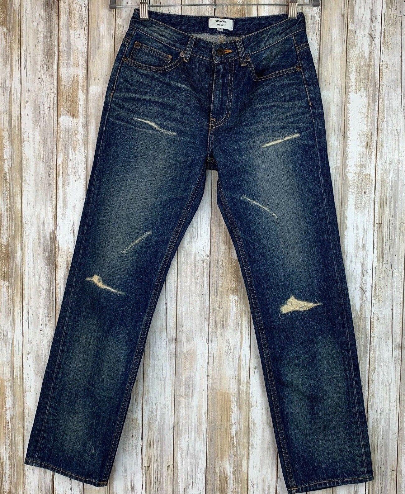 Vis A Vis Distressed bluee Denim Jeans Fall Winter Barneys Korea 1 25 26