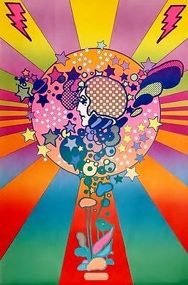 BIG EXCELL 60's PETER MAX Hippy PSYCHEDELIC POSTER ADAM COSMO Woodstock Beatles