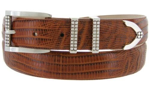 "Italian Calfskin Genuine Leather Designer Dress Belts Francouer 1-1//8/"" Wide"
