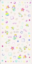 Nail Art Water Decals Stickers Transfers Unicorns Mermaid Stars Sea Shells YE177