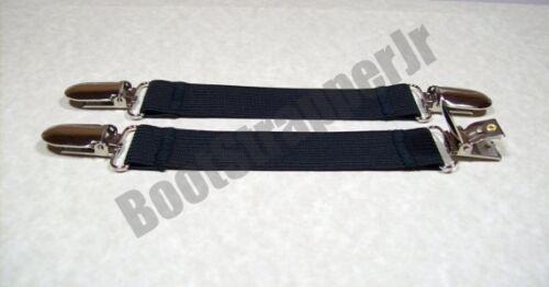 2 PAIRS SUPERIOR QUALITY WOMEN/'S DELUXE ELASTIC PANT CLIP STIRRUP BOOT STRAPS