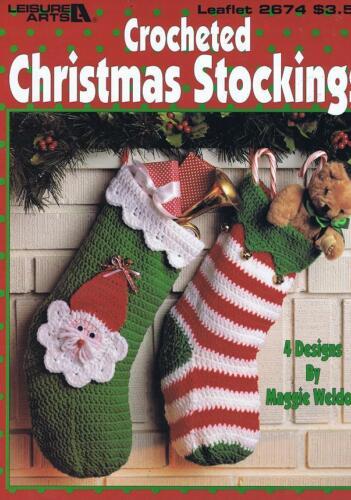 4 Designs Christmas Stocking Crochet Pattern Booklet