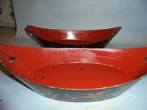 Antiquitäten & Kunst 31021 Paar Antike Lackschalen China Lackarbeit Asien Laquer Bowl Unterscheidungskraft FüR Seine Traditionellen Eigenschaften