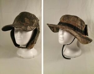 Camo Baseball Hat Cap Fur Lined Ear Flap Hunting Warm Whitewater Boonie Realtree WQmhL5FE-07165544-420470857