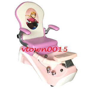 Elsa & Anna Kid Pedicure Chair / Nail Salon Massage Chair Mini Spa ...