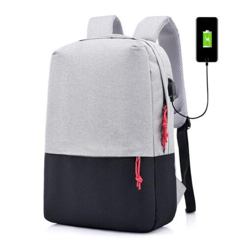 2018 Men Anti-theft Lock Waterproof Backpack Laptop School Bag USB Charging Port