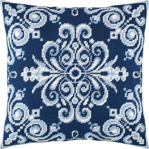 "Needlepoint//Tapestry Pillow Cover DIY Kit /""Tehran/"""