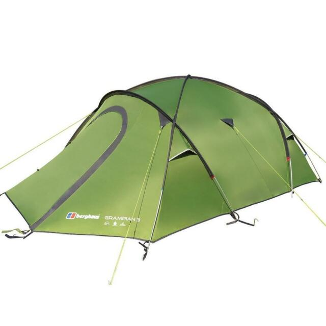 New Berghaus Gr&ian 3 Man C&ing 3 Person Festival Tent  sc 1 st  eBay & Berghaus Grampian 3 Man Camping 3 Person Festival Tent for sale ...