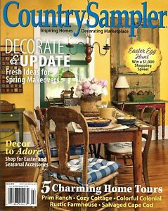 Details about COUNTRY SAMPLER DECORATING Magazine, March 2018, Fresh Spring  Makeover Ideas!