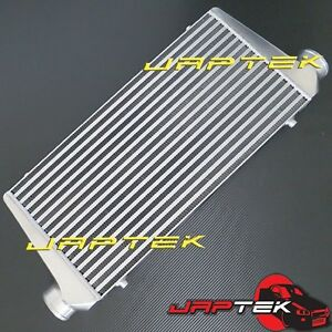NEW-Universal-Front-Mount-Intercooler-FMIC-600x300x76mm-3-034-Outlets-Bar-amp-Plate