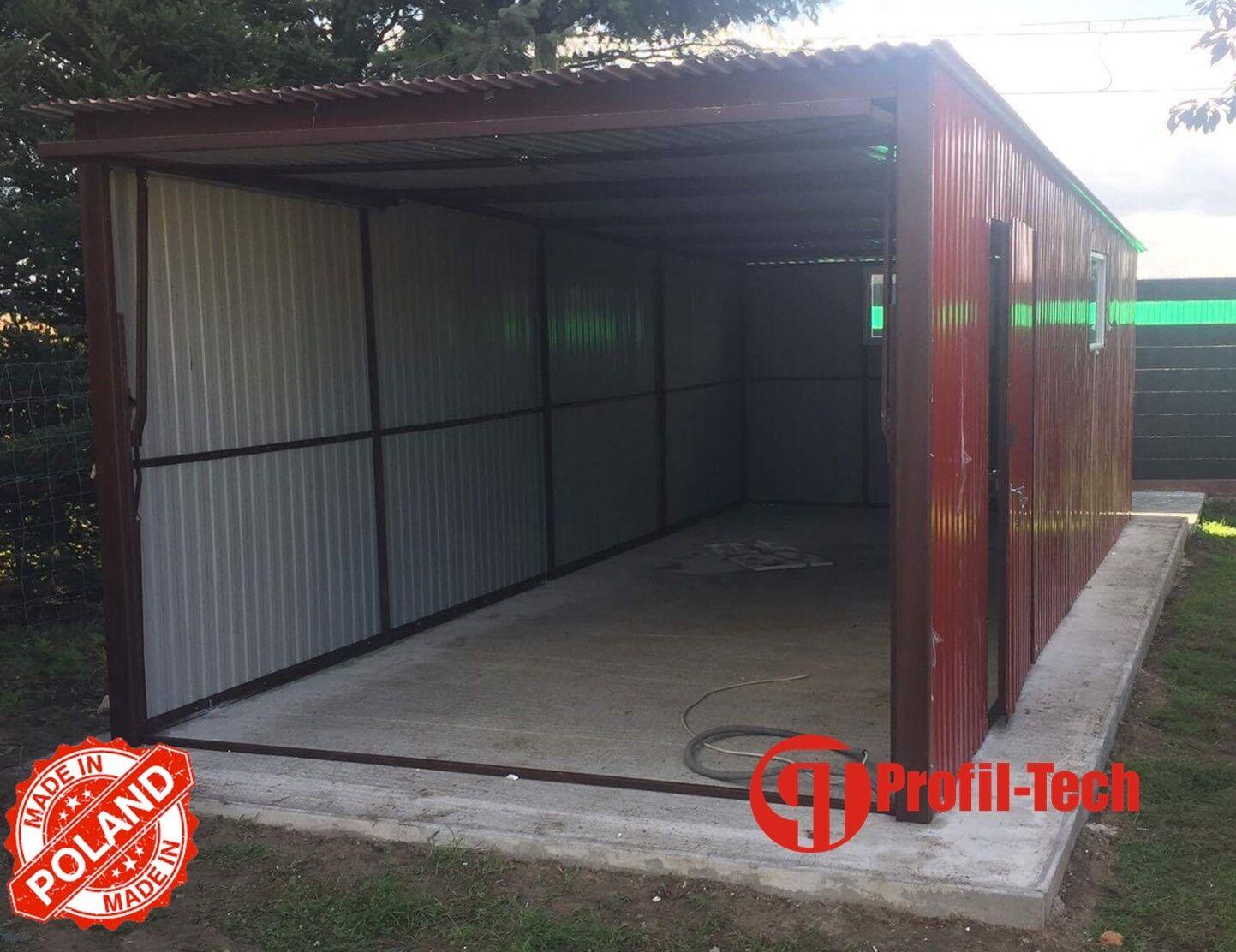 2,5x4,0 R3005 Blechgarage Fertiggarage Metallgarage RAUM KFZ REIFEN LAGER GARAGE