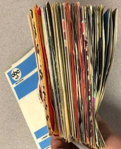"""Clean Lot of 25 Vintage 45 rpm 7"""" Company Sleeves 60's and 70's Vinyl Record"""