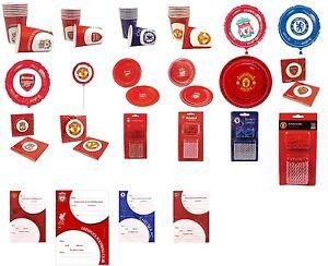 Football-Club-Plaques-Tasses-invite-Bougies-Foil-Balloon-Birthday-Party-Tableware