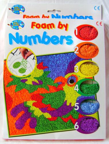Nuevo palo de espuma por números imagen fabricante de piezas de espuma en la placa Loro Craft PADG
