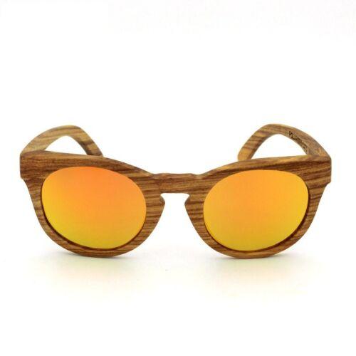 New Polarized Sunglasses Natural Zebra Wood Gasses Retro Vintage Wooden Eyeware