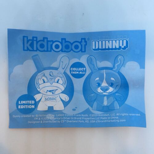 "Kidrobot x Sonic Wacky Pack 4"" Milkshake /& Corn Dog Dunny Set 3"" Dunnys"