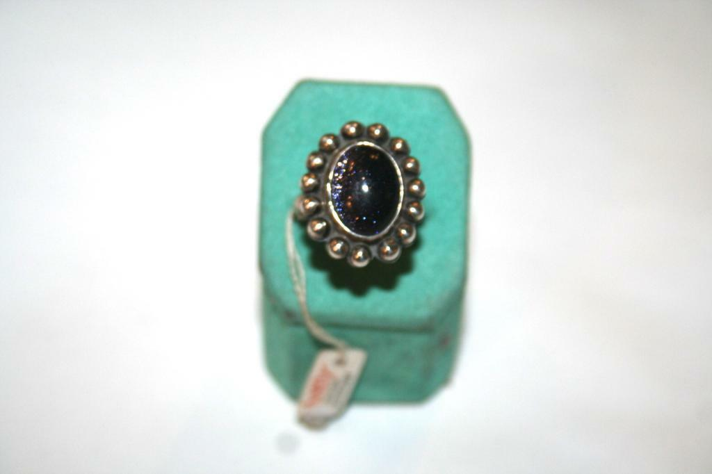RING SONNENSTEIN purpleT & silver VINTAGE 70 NEU NEU T58 60 NEU RING