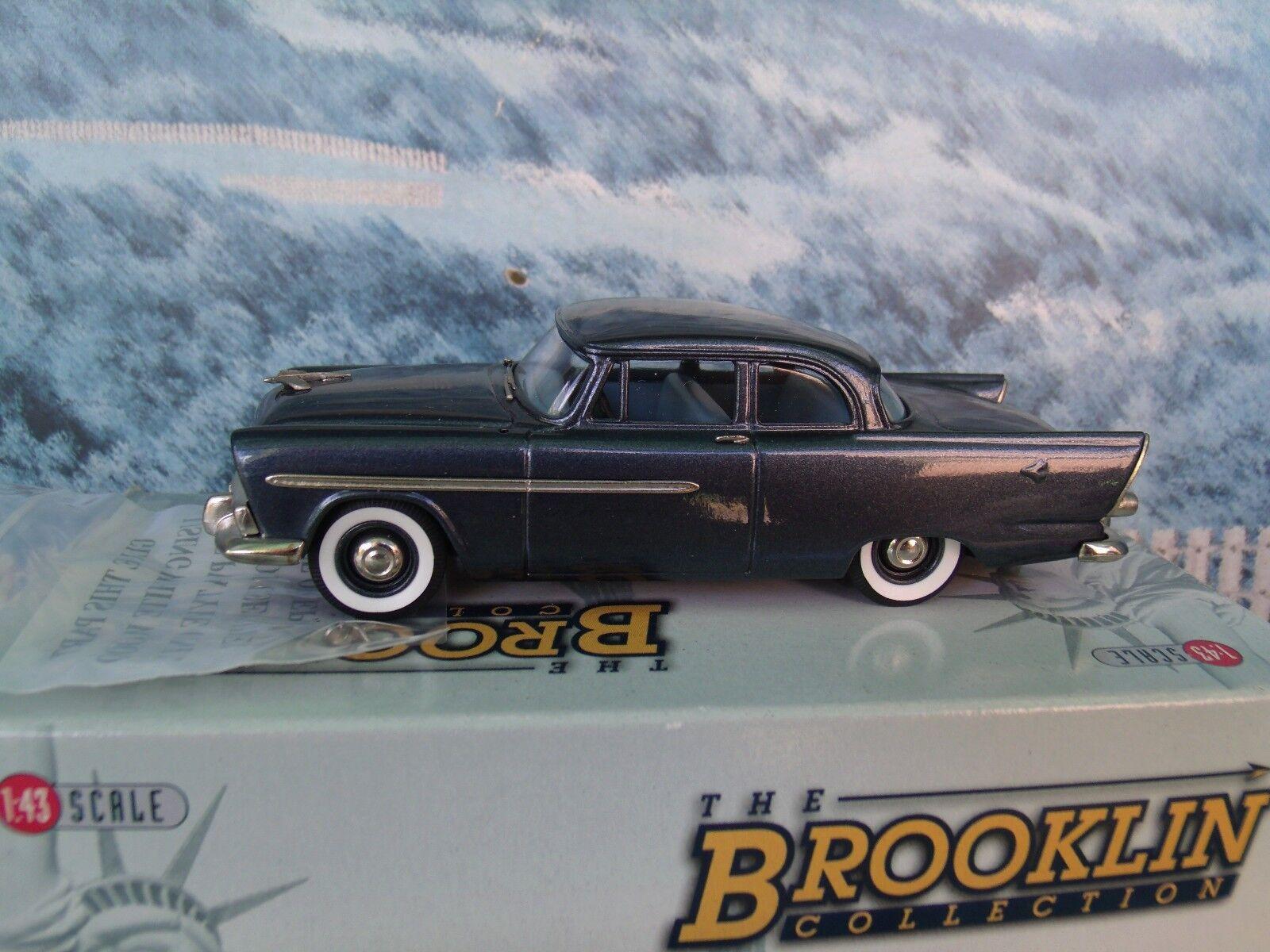 1 43 Brooklin modelos Plymouth plaza de 2 puertas 1956 Modelo de Metal biancao