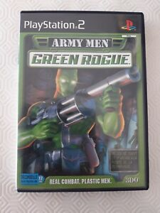 JEU-Sony-PLAYSTATION-2-PS2-ARMY-MEN-GREEN-ROGUE-Real-combat-plastic-men-COMPLET