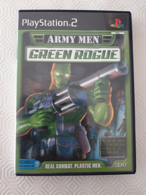 JEU Sony PLAYSTATION 2 PS2 ARMY MEN GREEN ROGUE Real combat, plastic men COMPLET