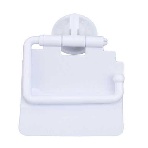 Wall Mounted Tissue Box Roll Paper Plastic Toilet Holder with Cover Organizer D