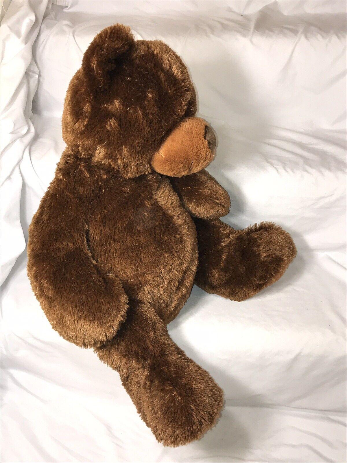 2009 giocattoli R Us Teddy orso orso orso Plush Stuffed Animal Dark Marroneeee gree Floppy gree 20  f51d0a