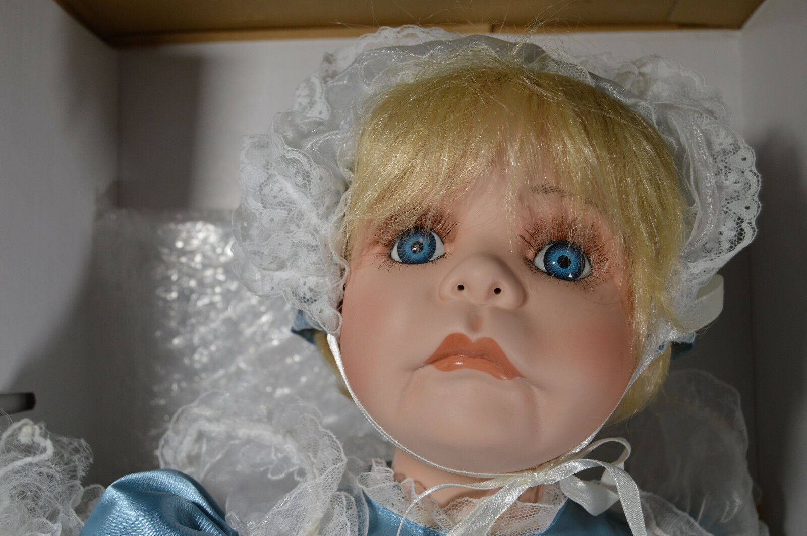 NIB 23  Bisque Porcelain Doll MARISSA Jan Wright Designer Cute Girl w  Baby
