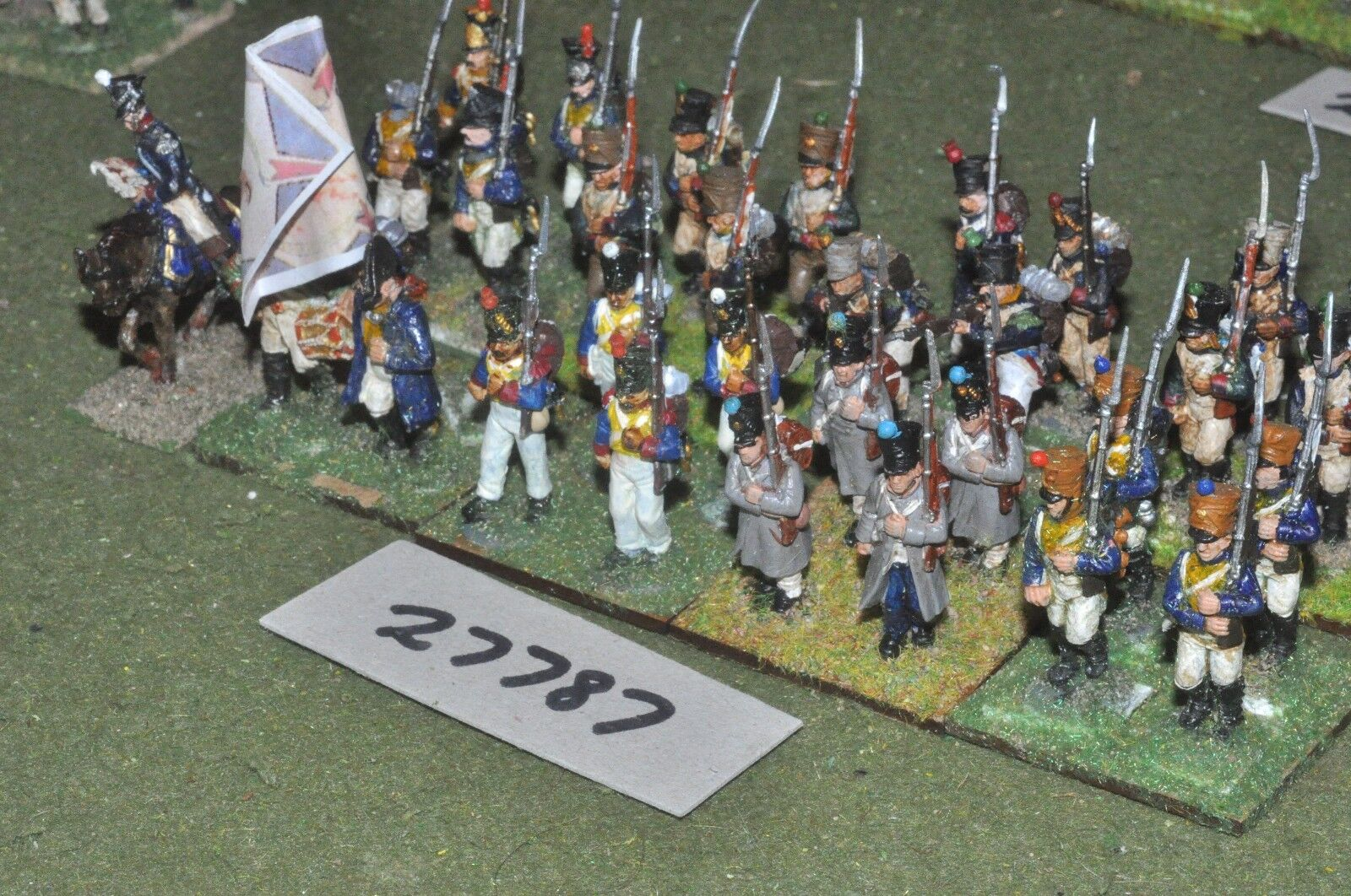 25mm napoleonic   french - regiment (plastic) 32 figures - inf (27787)