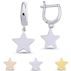 Ohrringe Stern Damen Ohrschmuck Stars Echtsilber 925 Sterling Silber