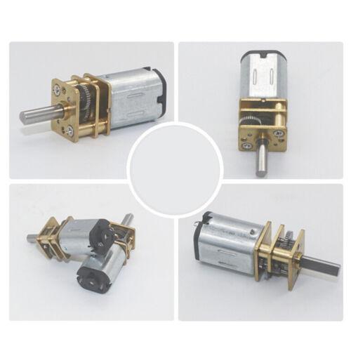 DC 6V 12V N20 Micro Metal Gear motor Electric gear box 3MM Shaft DiameterWQYEDE
