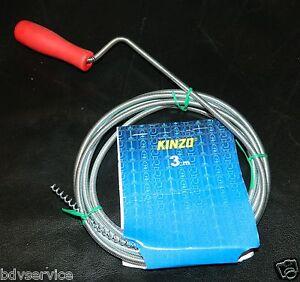 KINZO-Rohrreinigungswelle-Spirale-3m-Abfluss-Abflussreiniger-Rohrreinger-WC