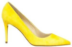 Decolte Schuhe 43 Mori Heels In Pointy Made Yellow Pumps Italy Giallo Leather BBRPYf